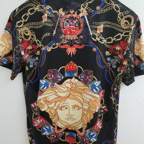f38828b0 Versace Shirts | Men Medusa Multi Color Tshirt Size Xxl | Poshmark